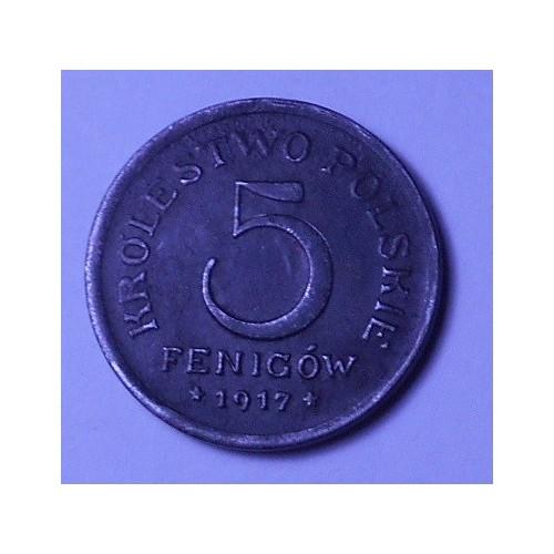 POLAND 5 Fenigow 1917...