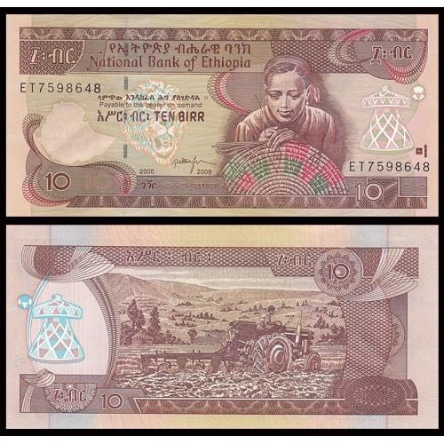 ETHIOPIA 10 Birr 2008