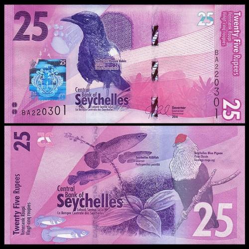 SEYCHELLES 25 Rupees 2016