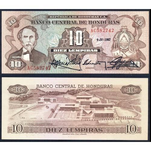 HONDURAS 10 Lempiras...