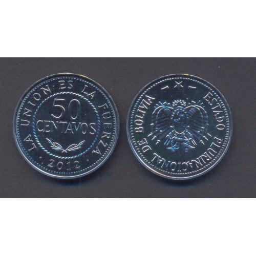 BOLIVIA 50 Centavos 2012