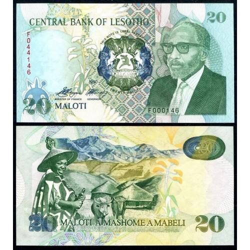 LESOTHO 20 Maloti 1990