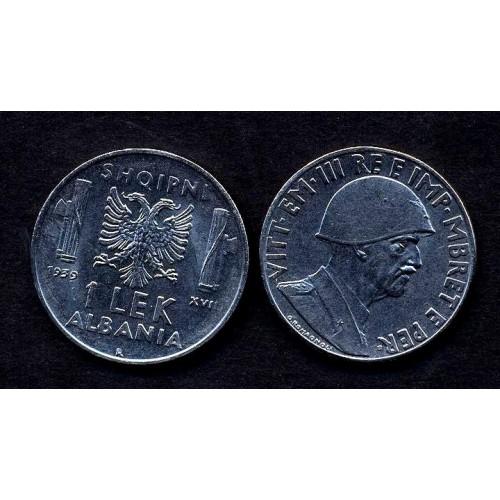 ALBANIA 1 Lek 1939 M.