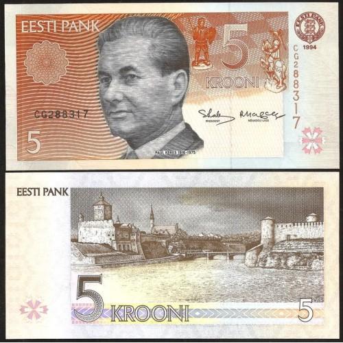 ESTONIA 5 Krooni 1994