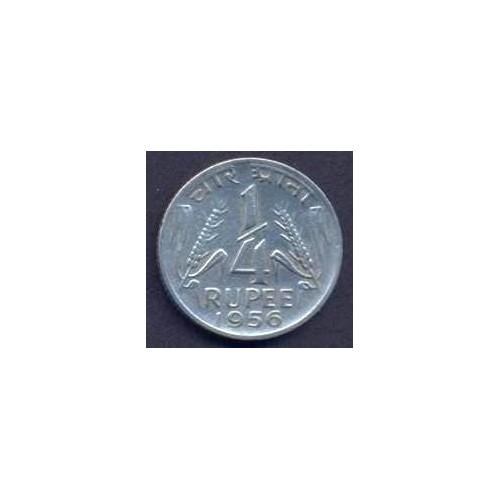 INDIA 1/4 Rupee 1956 C