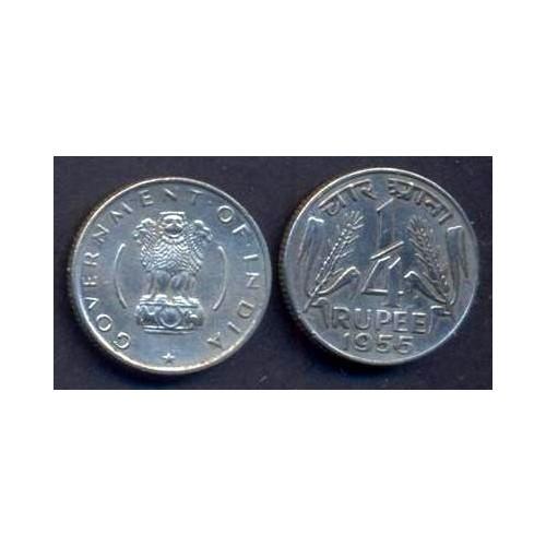 INDIA 1/4 Rupee 1955 C