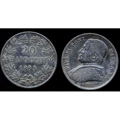 PIO IX 20 Baiocchi 1865 XX