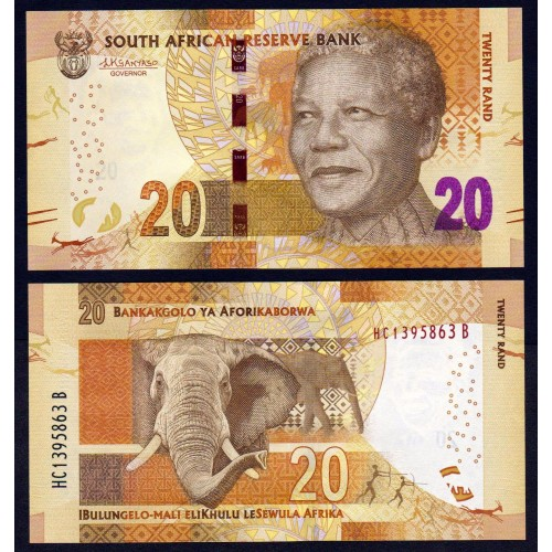 SOUTH AFRICA 20 Rand 2016