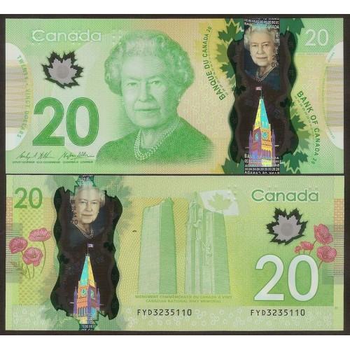 CANADA 20 Dollars 2015 Polymer
