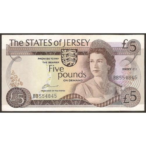 JERSEY 5 Pounds 1976