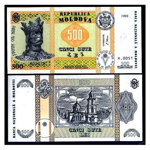 MOLDOVA 500 Lei 1992