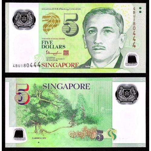 SINGAPORE 5 Dollars 2014...
