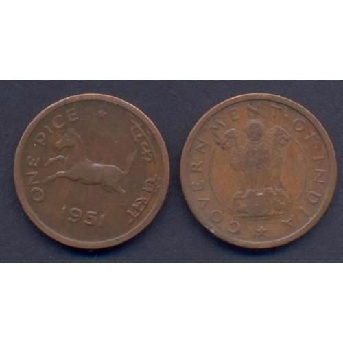 INDIA 1 Pice 1951 C