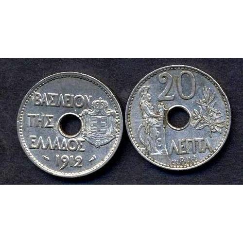 GREECE 20 Lepta 1912