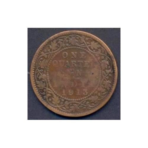BRITISH INDIA 1/4 Anna 1913