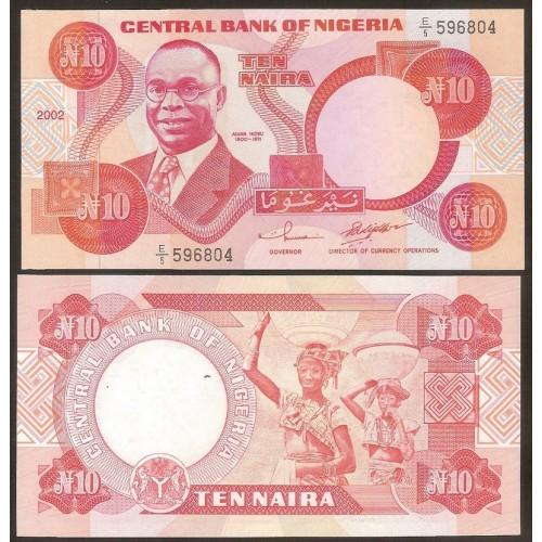 NIGERIA 10 Naira 2002