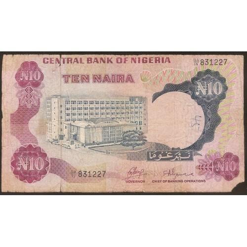NIGERIA 10 Naira 1973