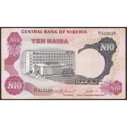 NIGERIA 10 Naira 1976