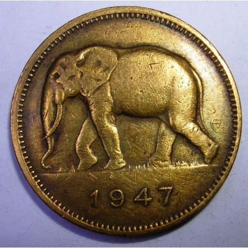 BELGIAN CONGO 2 Francs 1947