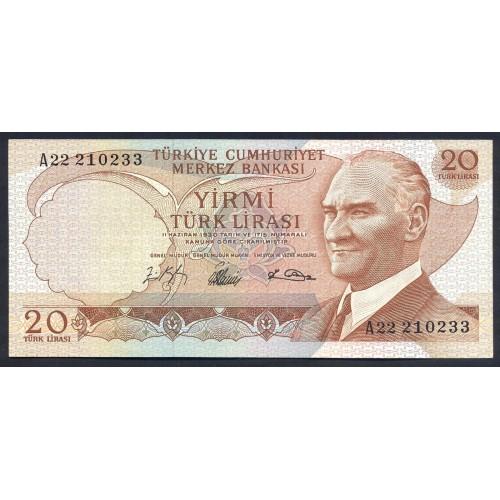 TURKEY 20 Lira 1966