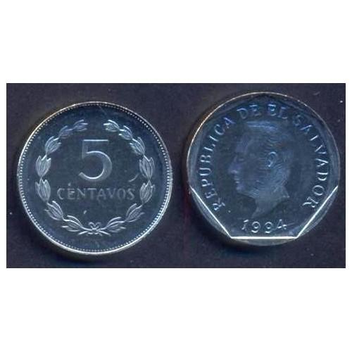 EL SALVADOR 5 Centavos 1994