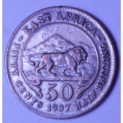 EAST AFRICA 50 Cents 1937 AG