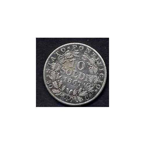 PIO IX 10 Soldi 1867 A.XXI