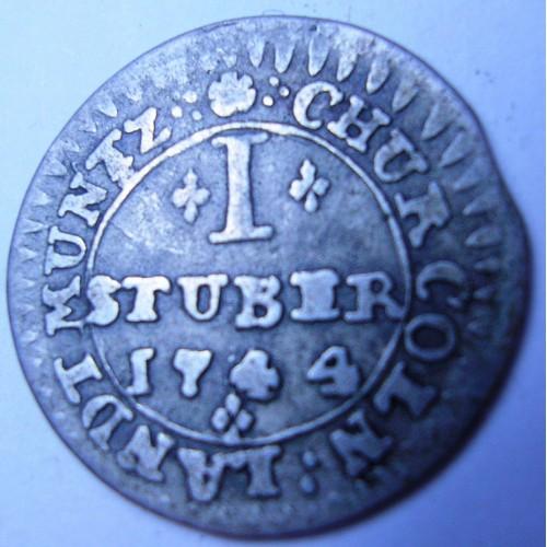 Cologne 1 Stuber 1744 AG