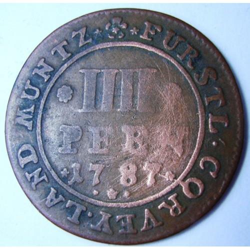 Corvey 4 Pfennig 1787