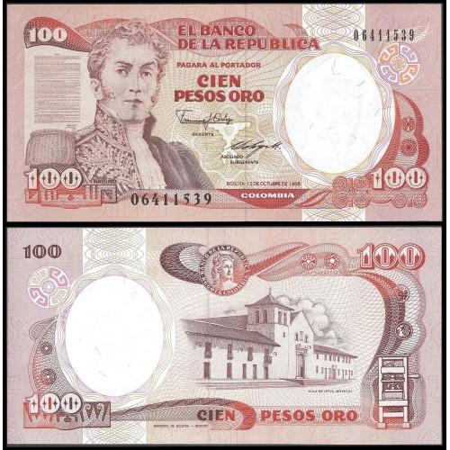 COLOMBIA 100 Pesos Oro 1988