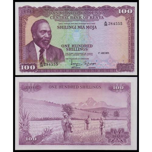 KENYA 100 Shillings 1972