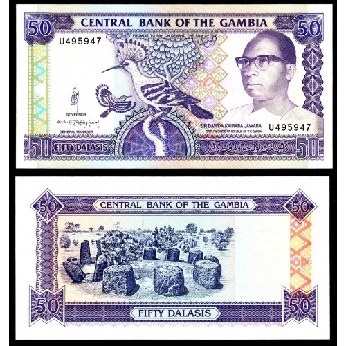 GAMBIA 50 Dalasis 1989
