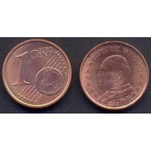 VATICANO 1 Euro Cent 2002