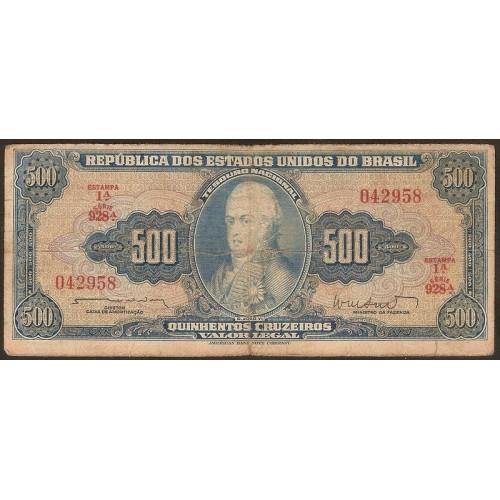 BRAZIL 500 Cruzeiros 1962