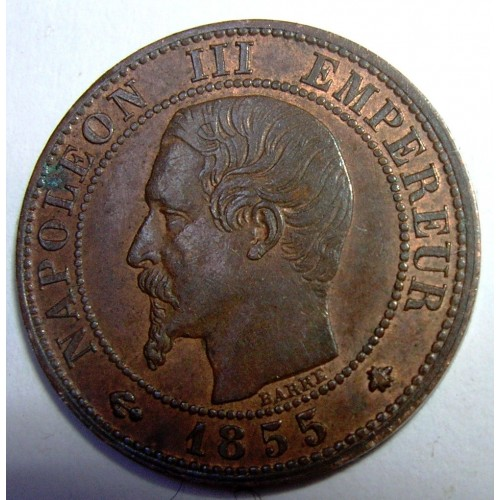 FRANCE 1 Centime 1855 BB rare