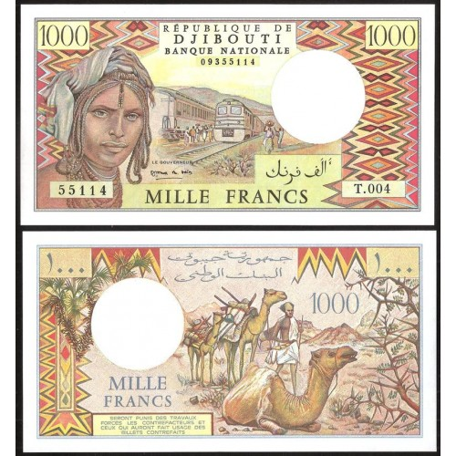 DJIBOUTI 1000 Francs 2004