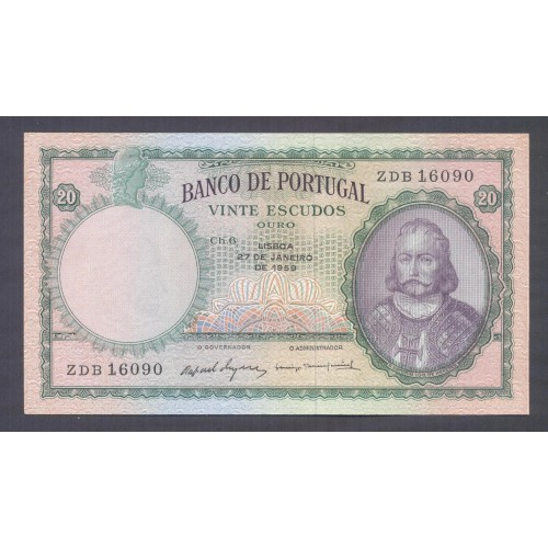PORTUGAL 20 Escudos 1959