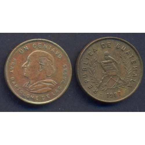 GUATEMALA 1 Centavo 1987