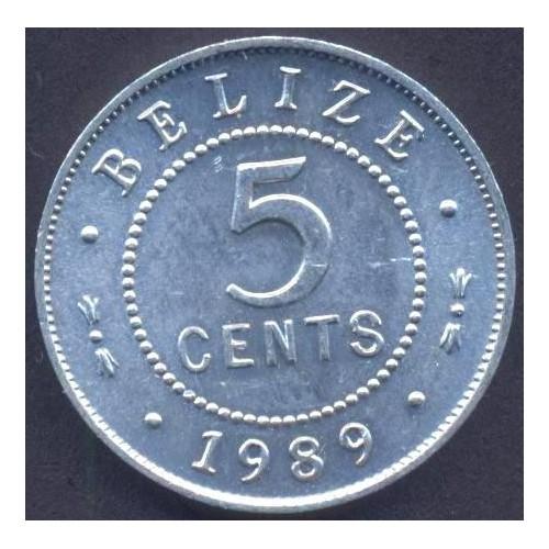 BELIZE 5 Cents 1989