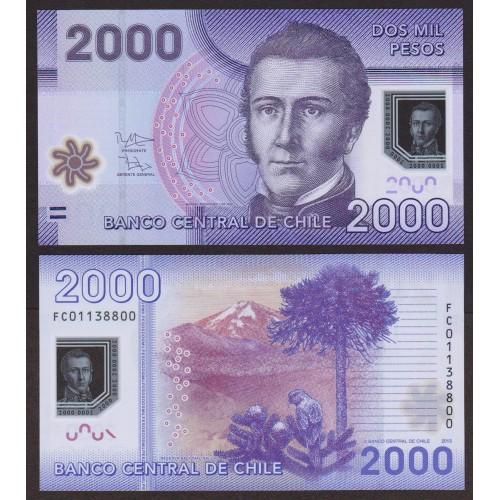 CHILE 2000 Pesos 2013 Polymer