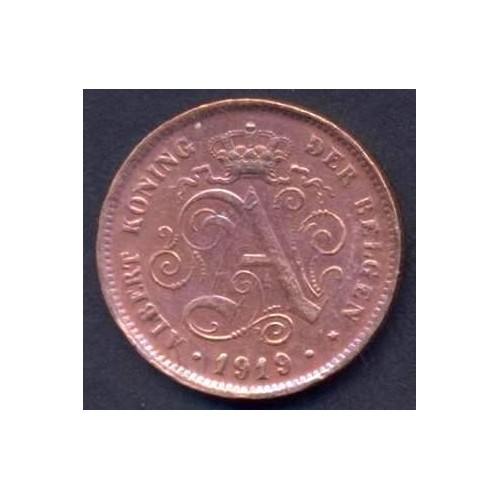 BELGIUM 2 Centimes 1919 Der...
