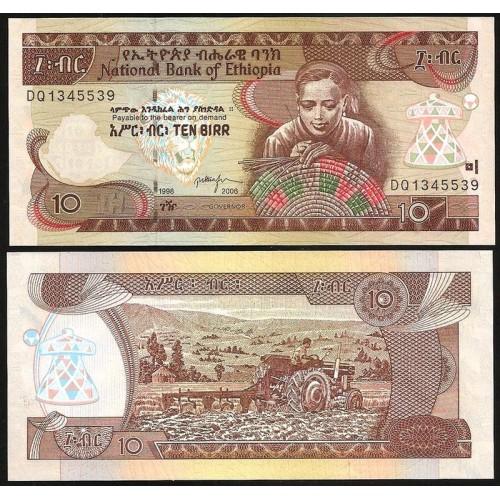 ETHIOPIA 10 Birr 2006