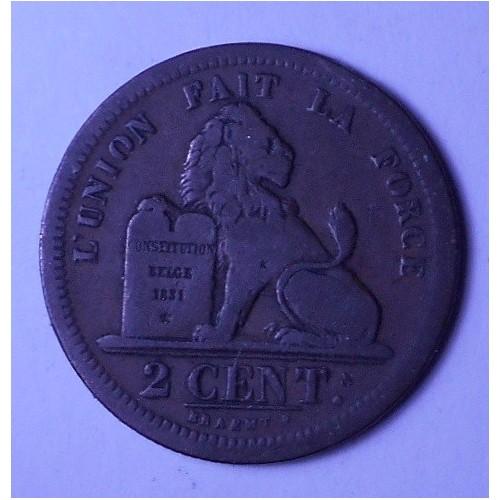 BELGIUM 2 Centimes 1835