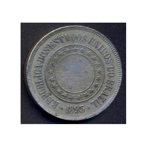 BRAZIL 200 Reis 1893