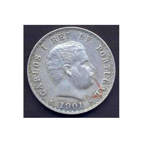 PORTUGAL 500 Reis 1901 AG...