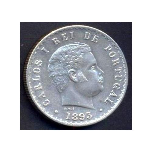 PORTUGAL 500 Reis 1893 AG...