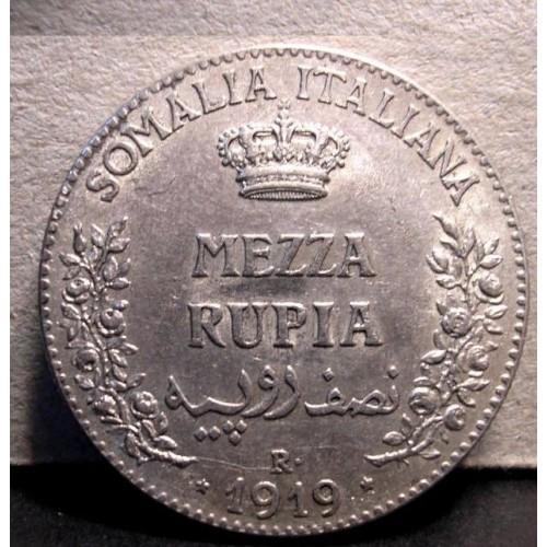 SOMALIA 1/2 RUPIA 1919