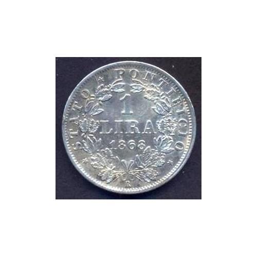 PIO IX 1 LIRA 1868 A.XXII
