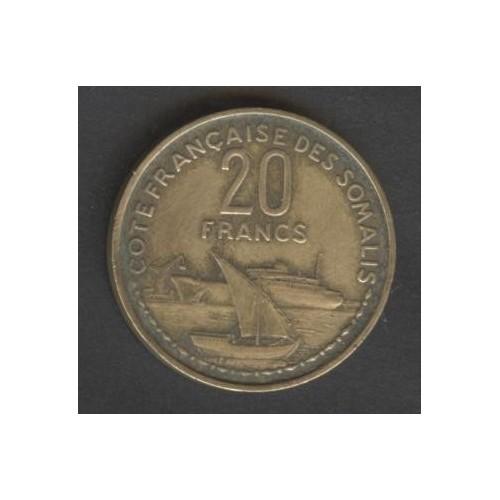 FRENCH SOMALILAND 20 Francs...
