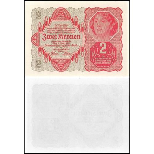 AUSTRIA 2 Kronen 1922